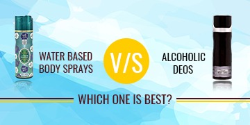 Water-based body sprays vs Alcoholic deos